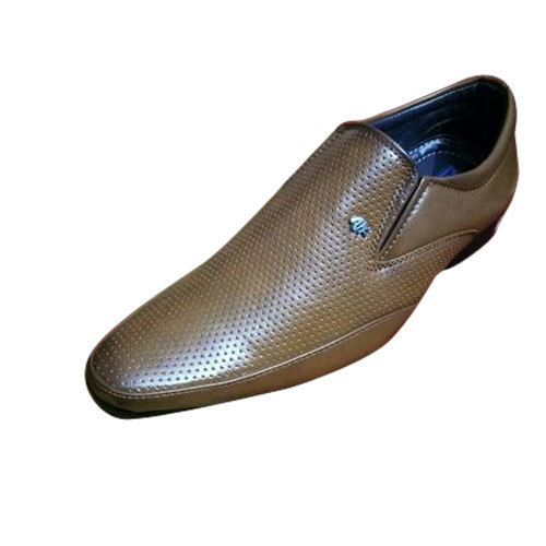 5070c72f290 Leather Men Brown Semi Formal Shoes