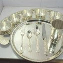 Stainless Steel Ss Dinner Set, Surface Finish: Polished, Content In The Box: 11 Pieces