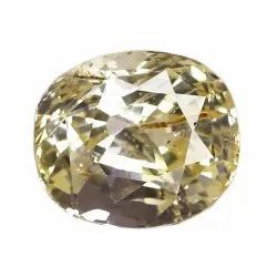 Sparkly Unheat Oval - Cut Yellow Sapphire