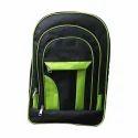 National Black, Green Backpack Bag