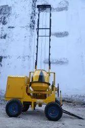 Concrete Mixer With 2 Pole Lift Machine