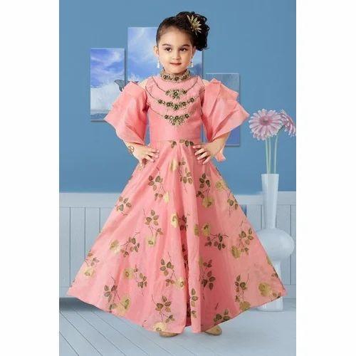 Georgette Party Wear Kids Western Gown