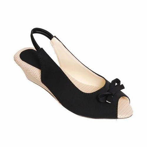 8ecc01416ac Magic Tree Black Low Heel Wedge Sandals