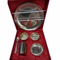 Champa Stainless Steel Kansa Thali Set
