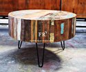 Bar & Cafe Coffee Table - Rustic Coffee Table - Indian Reclaimed Wood Furniture