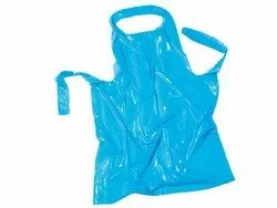Blue Plain Plastic Apron, For Safety & Protection, Size: Free Size