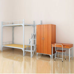 Metal Bunk Bed With Cabinet