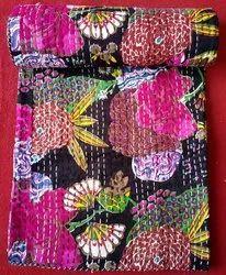 Jaipuri Quilt Handmade Bed Cover Cotton Kantha Blanket Throw Home Decor Bedspread Bedsheet