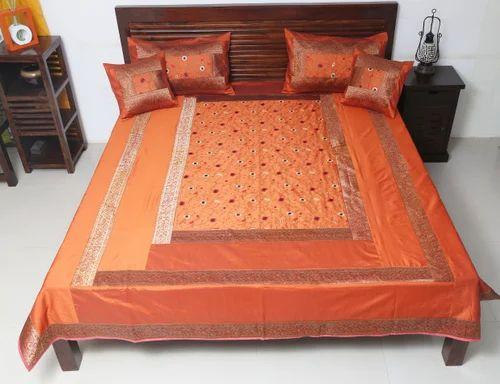 Jaipuri Silk Bedding Set