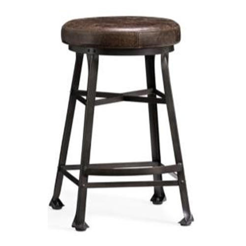 Leather Seat Bar Stool चमड क ब र
