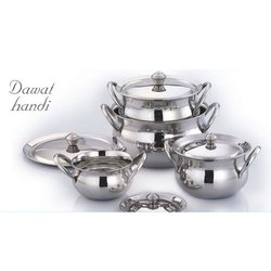 Stainless Steel Dawat Handi Set