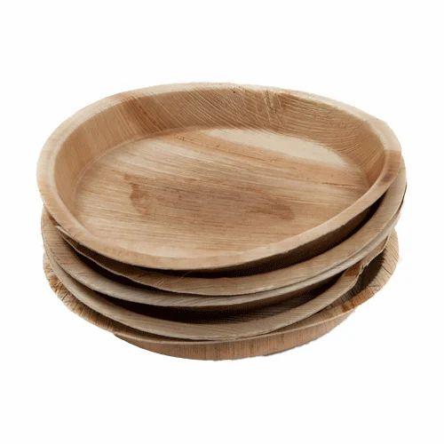 Disposable Round Areca Leaf Plate  sc 1 st  IndiaMART & Disposable Round Areca Leaf Plate at Rs 3.5 /piece | Areca Leaf ...