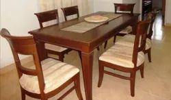 Standard 6 Chair Teak Wood Dining Table