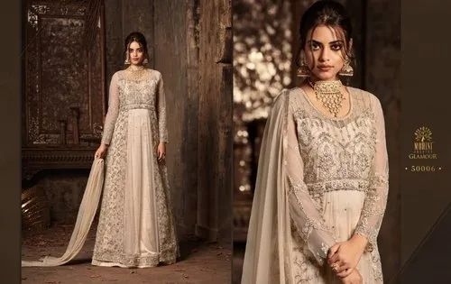 Mohini Glamour Party Wear Semi Stitched Heavy Net Dress Material