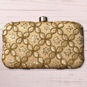 Golden Ladies Box Clutch