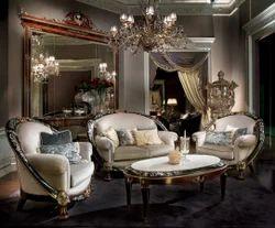 Glamour Wooden Sofa set