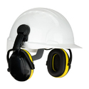 Yellow Abs Safety Helmets With Ear Muff, For Industry