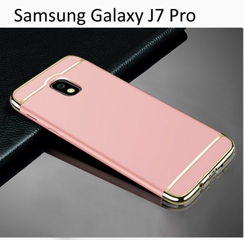 separation shoes 84d7b 2dd6f 3 In 1 Ultra Thin Hard Coated Matte Surface Back Cover For Galaxy J7 Pro  Rose Gold