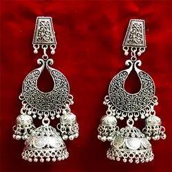 Oxidized Heavy Artificial Earrings