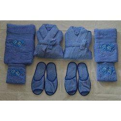 Comfortlooms 8 Pcs Sky Blue Bathrobe Set 370e2a684