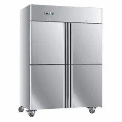 Stainless Steel Electricity 4 Door Commercial Refrigerator