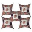 Barmeri Print Pure Cotton Set Of 5 Cushion Covers