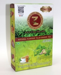 Zingysip Instant Tulsi Ginger  Tea - 200 Gm Pack