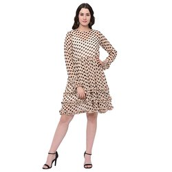 Georgette Poly Dot Dress