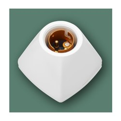 Ceramic White 39685 Anchor Fancy Batten Lamp Holder, Base Type: E40