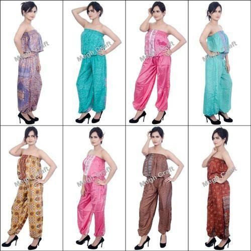 315ff73b0c80 Multicolor Designer Silk Fashion Wear Indo Western Jumpsuits