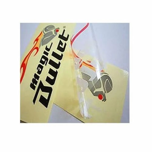 Yellow Transparent PVC Sticker, Vehicle Model: Bullet, Packaging Type: Box