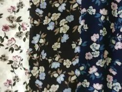 Floral Print Rayon Fabric For Clothing, GSM: 100-150