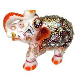 Marble Stone Work Elephant Statue