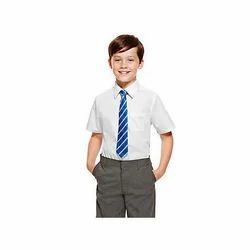 White And Grey Boys School Uniform