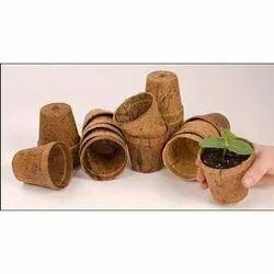 Coir Garden 4 Inch Round Coir Pot
