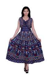 Blue Women Middy Dress