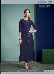 Boat Neck Navy Blue A Line Dress