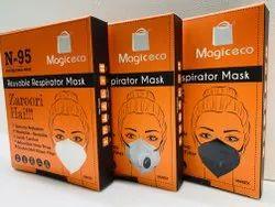 N95 Mask Reusable Resirator Mask Pack Of 3 White /Black/Grey