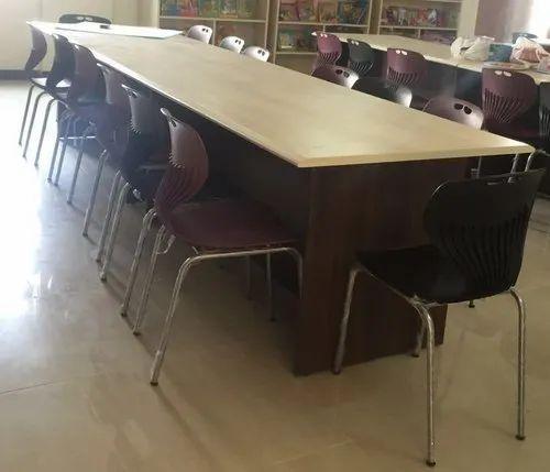 Rastogi Wood Library Table, Size: 72x30x30 Inch
