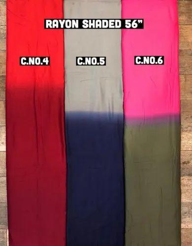 Rayon Shaded Fabric