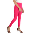 Pink Side white moti with pearl leggings