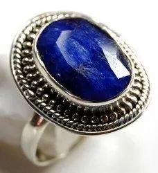 92.5 Blue Sapphire Sterling Silver India Rings Jewelry