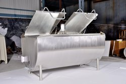 Half Cylinder Horizontal Bulk Milk Cooling Tanks