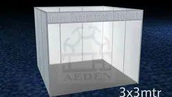 White Powder Coated Aluminium Frame Octanorm Stall, Size: 3x3mtr