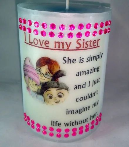 Emotions Handmade Happy Birthday Sister Love Gift Candle Rs 851 Piece Id 21138766533