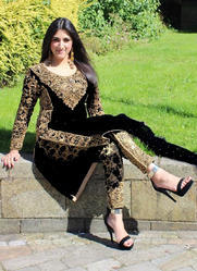 Party Wear Designer Velvet Salwar Suit