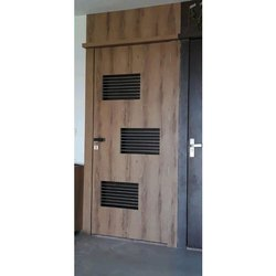 Brown Wood Wooden Safety Door
