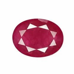 Oval -Cut Red Tajikistan Unheat Ruby Gemstone