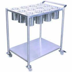 Silver Kitchen Masala Trolley