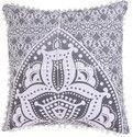20x20 Indian Ombre Mandala Cushion Cover